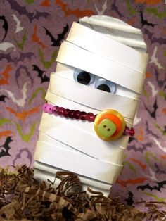 Mummy wrapped candy bar