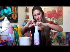 Decoração de Garrafa com Balão - YouTube