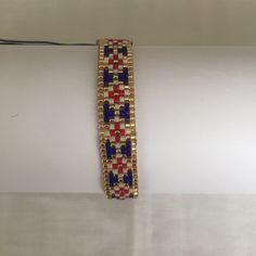 Saks mavi-kırmızı miyuki bileklik #miyuki #design #bileklik #handmade