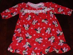 DISNEY MINNIE MOUSE  DRESS GIRL INFANTS 12 MONTHS PINK 1 YEAR OLD BABY CLOTHES #Disney
