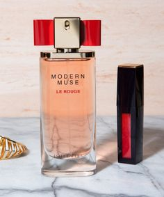 The fragrance and lip color you need this season (Pure Color Envy Lip Potion in Fragile Ego and Modern Muse Le Rouge Estee Lauder Makeup, Modern Muse, Kendall Jenner Style, Mac Makeup, Lip Colors, Colours, Parfum Spray, Smell Good, Perfume Bottles
