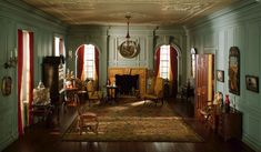 Mrs. James Ward Thorne  American, 1882-1966    A23: Virginia Drawing Room, 1754, c. 1940    Miniature room, mixed media  Interior: 12 x 19 5/8 x 22 in.  Scale: 1 inch = 1 foot  Gift of Mrs. James Ward Thorne, 1942.503