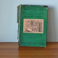 Vintage book Printing Ink 1926 Frank B Wiborg