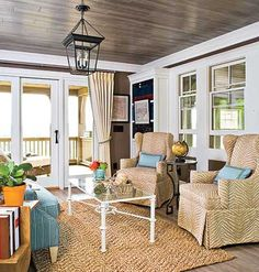 An extra large lounge chair is the perfect spot to enjoy the sunset on the retreat porch.