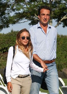 Mary-Kate Olsen with Olivier Sarkozy At The Hampton Classic Horse Show Event #style #fashion #olsentwins #mka