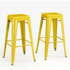 Tabouret 30-inch Lemon Metal Bar Stools (Set of 2)