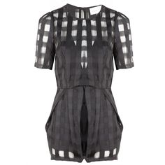 Alice McCall Walk On By Playsuit ($350) ❤ liked on Polyvore featuring black slip, alice mccall, low back slip and sheer slip