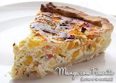Quiche de Legumes, para aquele almoço que queremos comer algo diferente. Clique na imagem para ver a receita no Manga com Pimenta.