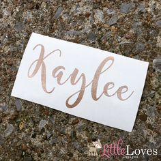 Make your own fun personalized gift for yourself or a friend/loved one! Our vinyl decals are made from high quality outdoor grade vinyl. This listing is for one sticker with a first name in your choice of size & color! If you are needing a decal for someone with two first names (ex. Mary Kate) you would need to purchase 2 decals.  Your decal will be shipped in a rigid mailer to prevent it from being bent during transit. This also allows us to add tracking to the package so that you can know…