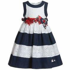 Vestido rayas blanco Azul