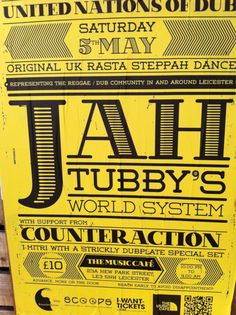 Jah Tubby's World System - Dub Reggae with a bass to shake nations! Leicester UK
