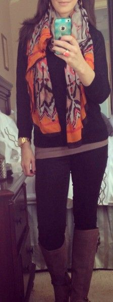 Mom-Style-Black-Jeans-Scarf-Tan-Boots
