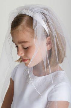 First Communion Headband with Veil $57.00