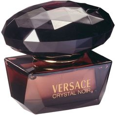 Versace Crystal Noir Eau de Toilette (105 BAM) ❤ liked on Polyvore featuring beauty products, fragrance, perfume, beauty, makeup, cosmetics, accessories, eau de toilette perfume, perfume fragrance and versace fragrance