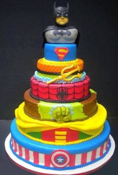 Superhero cake: What super-kid wouldn't love this? I know a few adults that might as well.