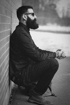Styling beard.