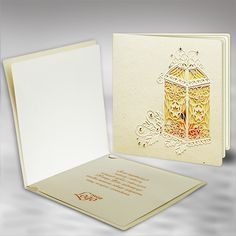 The Christmas card is made of high quality eco ecru paper. The eco ecru cover has laser cut, embossed and hot stamp gold foil elements . The insert is mat ecru and the front site is with a design that is a background for the cover. The envelope is included.
