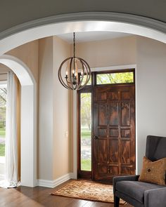 Martha loves this #pendant light from #Feiss! It definitely makes for stunning #foyer #lighting! (Picture found on feiss.com)
