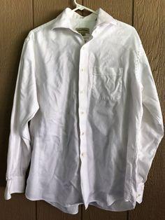 Tommy Bahama Men's Shirt Button Down Long Sleeve Shirt 15-1/2 34-35 White #TommyBahama