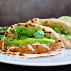 Paul McCartney's refried bean tacos.  These tacos are family approved and a great meatless Monday idea.