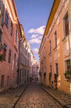 Cozy street in Bratislava - travel Vacation Places, Dream Vacations, Danube River Cruise, Bratislava Slovakia, Travel Goals, Places To See, Tourism, Travel Photography, Adventure