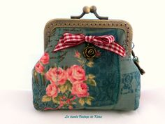 Monedero tela con boquilla  de La Tienda Vintage de Kima por DaWanda.com