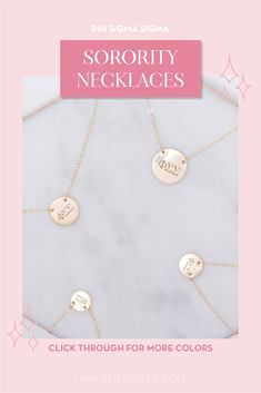 Sorority circle necklaces are the easiest gift for any celebration: Recruitment, Bid Day, Back to School & Big/Little. Spoil your new sorority girl with our simple and dainty Greek letter circle necklace! Phi Sigma Sigma Gifts   Phi Sigma Sigma Bid Day   Phi Sig Necklace   Phi Sigma Sigma Jewelry   Sorority Bid Day   Sorority Recruitment   Sorority Jewelry Gifts   Sorority College Gift   Sorority New Member Gift Ideas   Dainty Jewelry   Simple Gold Necklace #SororityGifts #SororityJewelry Gold Necklace Simple, Circle Necklace, Simple Jewelry, Dainty Jewelry, Jewelry Gifts, Sorority Gifts, Sorority Recruitment, Sorority Bid Day, College Sorority
