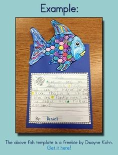 Rainbow Fish Freebie - Writing & Story Elements Worksheets by Leticia Gallegos Rainbow Fish Eyfs, The Rainbow Fish, Rainbow Fish Activities, Rainbow Fish Crafts, Kindergarten Crafts, Kindergarten Writing, Kindergarten Classroom, Story Elements Worksheet, Fish Template