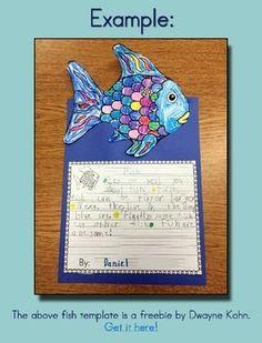 Rainbow Fish Freebie - Writing & Story Elements Worksheets