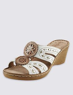 33fbc9c7d4183 Leather Whipstitch H Band Wedge Sandals Chesterfield, Wedge Sandals,  Sunnies, Pairs, Wedge