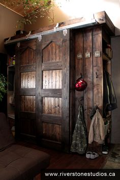Riverstonestudiosca Oversized Cabinets Hand Built From Reclaimed 2x8s Pine Tongue