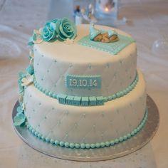 Dåpskake, laget av Tante Mina Baby Christening Cakes, Baby Boy Cakes, Cakes For Boys, Baby Shower Cakes, Decadent Cakes, Fondant Cupcakes, Celebration Cakes, Beautiful Cakes, Aurora
