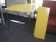 1950s Yellow Melamine Kitchen Table