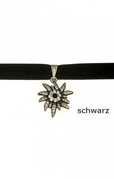 Kurze Trachten Halskette - K10 - mit Edelweiss