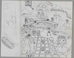 Space Oddity 60s drawing - by David Bowie
