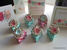 Kleine Dreiecksschachtel mit dem ENvelope-Punch-Board, Petite Petals, Incolors, Frisch und Farbenfroh