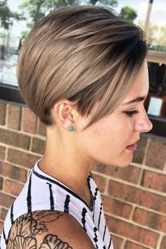 Best Practicality Pixie Haircut Ideas, Best Short Hair for Female Short Hair Styles Easy, Short Hair With Layers, Cute Hairstyles For Short Hair, Hairstyles Haircuts, Short Hair Cuts, Pixie Haircuts, Pixie Cuts, Short Pixie, Super Short Hair