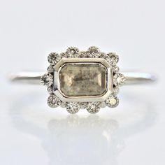 Cyprus Grey Diamond Ring - Gem Breakfast