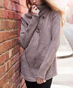 Look what I found on #zulily! Fawn Wool-Blend Swirl Sweater #zulilyfinds