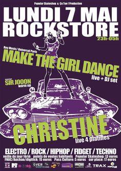 Make The Girl Dance & Christine + Warm Up Sir Jooon le 7 mai au Rockstore