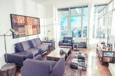 Industrial Antiquarian Loft - Modern - Living Room - Images by Marie Burgos Design | Wayfair