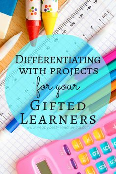 Differentiating with Projects for your Gifted Students School Gifts, Student Gifts, Project Based Learning, Learning Process, Gifted Education, Special Education, Physical Education, Gifted Kids, Teaching Gifted Students