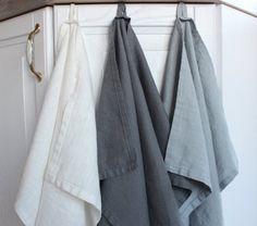Linen Towels set, 3 kitchen towels, natural linen towel, tea towel, Kitchen Food Cover Hand towel