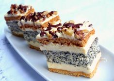 Hungarian Desserts, Hungarian Recipes, Hungarian Food, Sweets Recipes, Cookie Recipes, Xmas Desserts, Cake Bars, Banana Recipes, Sweet And Salty