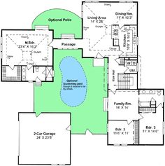 Compound 2200 SF /  Plan W11017G: Creative Compound from Architectural Designs