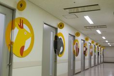 Kyushu University Pediatric Ward Interior – Sign Design