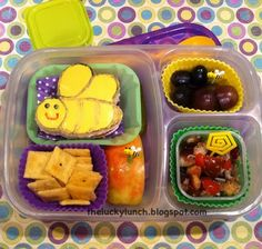 The Lucky Lunchbox/ Buzzy Bees lunch for Throwback Thursday in @EasyLunchboxes