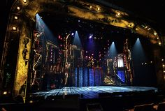 """""""The Rocky Horror Show"""" set design by Donyale Werle. Reclaimed materials and trash used in a creative way."""