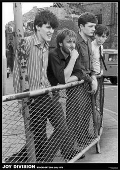 Joy Division were an English rock band formed in 1976 in Salford, Greater Manchester. Originally named Warsaw, the band primarily consisted of Ian Curtis (vocals and occasional guitar), Bernard Sumner (guitar and keyboards),[1] Peter Hook (bass guitar and backing vocals) and Stephen Morris (drums and percussion).