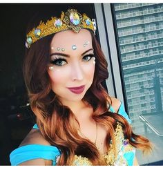 @mrs.zedd in her Princess Jasmine @electriclaundry outfit. Beautiful